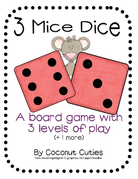 3 Dice Mice Board Game