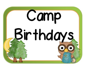 3 Different Camping Themed Birthday Sets: Camping Theme, Bug Jars, and S'Mores