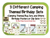 3 Different Camping Themed Birthday Sets: Camping Theme, B