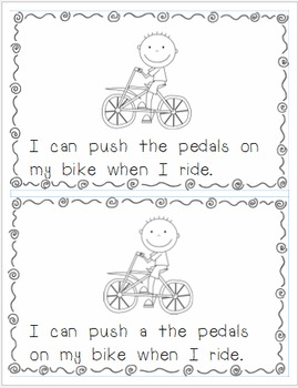 3 Differentiated Emergent Readers:  Things I Push or Pull (Levels 1, 2/3, & 4)