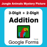 3-Digit + 2-Digit Addition - Animals Mystery Picture - Google Forms