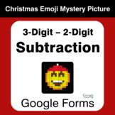 3-Digit - 2-Digit Subtraction - Christmas EMOJI Mystery Pi