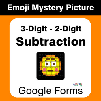 3-Digit - 2-Digit Subtraction - EMOJI Mystery Picture - Google Forms