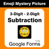 3-Digit - 2-Digit Subtraction - EMOJI Mystery Picture - Go