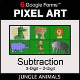 3-Digit - 2-Digit Subtraction - Pixel Art Math | Google Forms