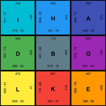 3-Digit - 2-Digit Subtraction - Puzzles with GOOGLE Slides