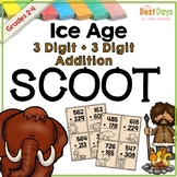 Addition with Regrouping 3 Digit Scoot: Ice Age Themed!