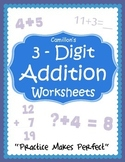 3 Digit Addition Worksheets with Answer Keys