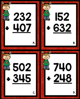 Christmas 3 Digit Addition without regrouping