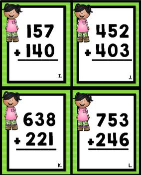 3 Digit Addition Easy Prep Math Station