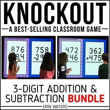 3-Digit Addition & 3-Digit Subtraction KNOCKOUT Bundle