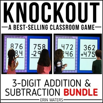 3-Digit Addition 3-Digit Subtraction Game | KNOCKOUT | Distance Learning