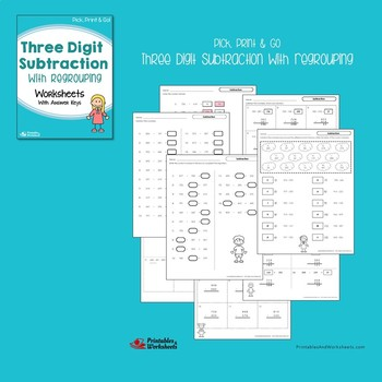 3 Digit Addition And Subtraction With Regrouping Worksheets