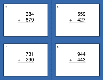 3-Digit Addition BINGO and Task Cards