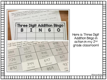 3 Digit Addition Bingo (with regrouping)