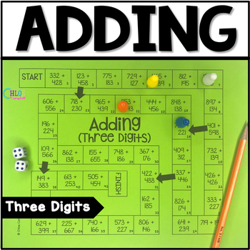 3 Digit Addition Board Game