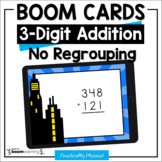 3-Digit Addition Boom Cards (No Regrouping) Distance Learning