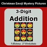 3-Digit Addition - Christmas EMOJI Color-By-Number Mystery