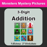 3-Digit Addition - Math Color-By-Number / Math Mystery Pictures
