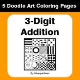 3-Digit Addition - Coloring Pages | Doodle Art Math