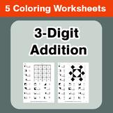 3-Digit Addition - Coloring Worksheets