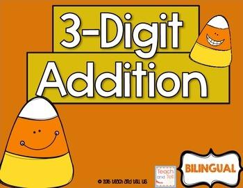 3-Digit Addition English and Spanish