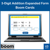 3-Digit Addition Expanded Form: Boom Cards