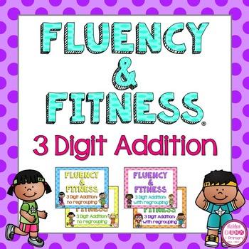 3 Digit Addition Fluency & Fitness Brain Breaks Bundle