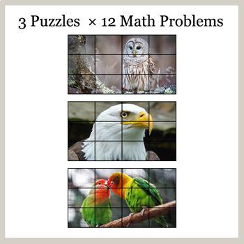 3-Digit Addition - Google Slides - Birds Puzzles