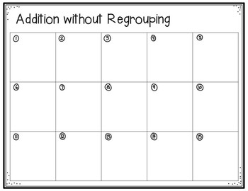 3 Digit Addition Mini Task Cards