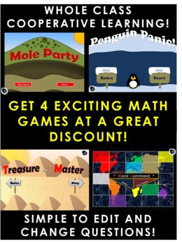 3 Digit Addition NO REGROUPING - Bundle of 4 Games   EASY TO EDIT!