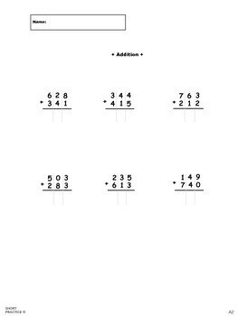 3-Digit Addition No Regrouping