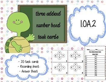 3 Digit Addition (Number Bond) Task Cards