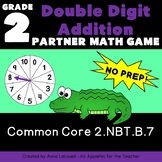 NO PREP 2 Digit Addition Partner Game--Spin It, Build It,