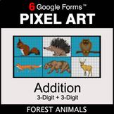3-Digit Addition - Pixel Art Math | Google Forms