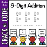 3-Digit Addition Practice: Crack the Code!
