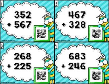 3-Digit Addition QR Code TASK CARDS