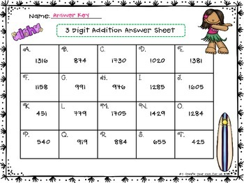 3 Digit Addition - Regrouping Task Cards