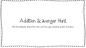 3 Digit Addition Scavenger Hunt