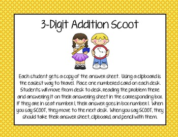3-Digit Addition Scoot
