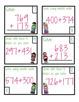 3 Digit Addition Scoot