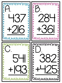 3-Digit Addition Scoot