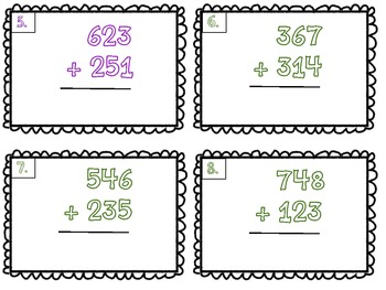 math worksheet : 3 digit by 3 digit addition scoot task cards freebie! by caitlin  : 3 Digit Addition Games