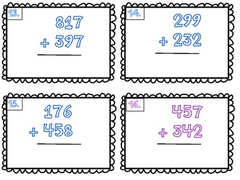 3 Digit by 3 digit Addition Scoot Task Cards (Freebie!)