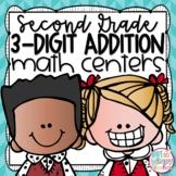 3-Digit Addition Second Grade Math Centers