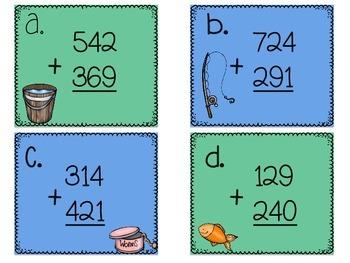 3 Digit Addition Sort Task Cards