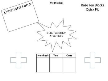 3 Digit Addition Strategies Poster