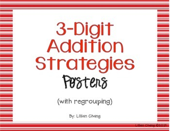 3-Digit Addition Strategies Posters (with regrouping)