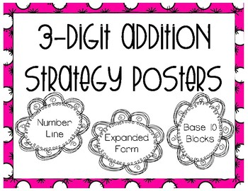 3 Digit Addition Strategy Posters
