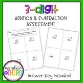 3-Digit Addition & Subtraction Assessment